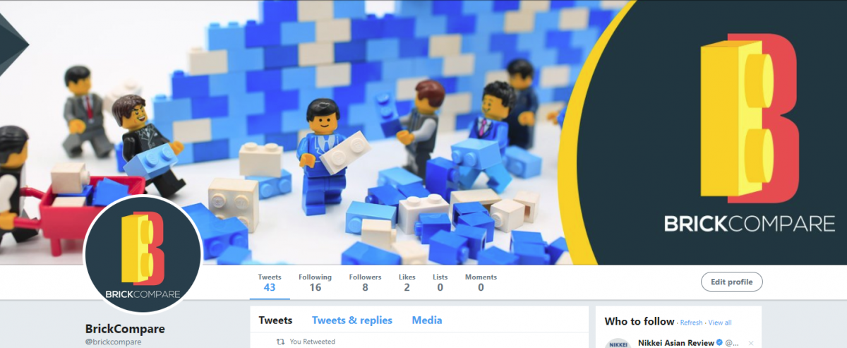 BrickCompare Twitter