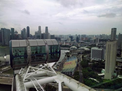 At the top of Singapore Flyer